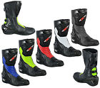 Motorbike Motorcycle Genuine Leather Waterproof Track Boots Armours Shoes