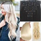 Long Women 8Pcs Clip in Hair Extensions Extension Full Head Real Thick for human