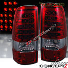 Red / Clear Lens LED Tail lights for 1999-2002 Chevy Silverado 1500 GMC Sierra