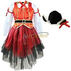 Girls Dress Kids Top Paired with Skirt and Hat Halloween Cosplay Costume Outfits