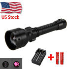 Long Range T50mm Infrared IR 850nm LED Lamp Night Vision Torch 25MM Mount Switch