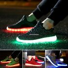 NEW Unisex 7 LED Light Lace Up Luminous Shoes Sportswear Sneaker Casual Shoes