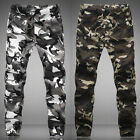 Mens Autumn Army Camo Slacks Slim Fit Trousers Casual Jogger Pants Work Slack