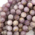 "Natural Lavender Kunzite Round Beads Gemstone 16"" strand 4mm 6mm 8mm 10mm 12mm"