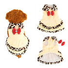 Lovely Beige Puppy Small Dog Cat Warm Dress Coat Clothes Winter Apparel Costume