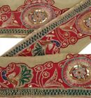 Vintage Sari Border Antique Hand Beaded 1 YD Indian Trim Sewing Patch Lace