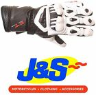 FRANK THOMAS PRO A09-16 LEATHER MOTORCYCLE GLOVES RACING RACE BLACK WHITE J&S