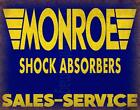 MONROE SHOCK ABSORBERS VINTAGE ADVERTISEMENT METAL TIN SIGN POSTER WALL PLAQUE