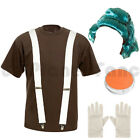 CHILDRENS KIDS BOYS UMPA LUMPA OOMPA LOOMPA FANCY DRESS COSTUME WILLY WONKA.