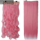 100% Real Thick Clip In Hair Extensions Long Curly Full Head Hair Extentions sn0