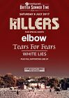 THE KILLERS BST London Hyde Park - 8 July 2017 PHOTO Print POSTER Band Elbow 012