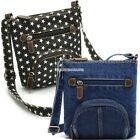 Women casual bag front pocket Classic blue denim handbag shoulder diagonal EN24H