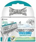 Wilkinson Sword Quattro Titanium Sensitive Razor Blades 4,8,12 Or 16 Blades