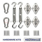 6 8 in Square Triangle Sun Shade Sail Stainless Steel Hardware Installation Kit
