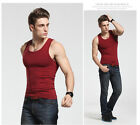 100% Quality Elastic Cotton Men A-Shirt Tank Top Wife Beater Undershirt Vest New
