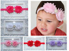 Baby Girl Infant Toddler Shabby Chiffon Flower Headband Kid Hair Band Photo Prop