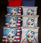 Custom Patriotic Hockey Goalie Mask 8 ACA regulation Cornhole bags  game B126