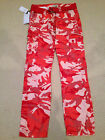 NWT Men's Imperious Light Red Camouflage Camo Slim Fit Cargo Pants ALL SIZE