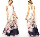 Women Summer Floral Boho Evening Party Long Maxi Beach Dress Chiffon Dresses