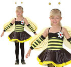 Girls Bumblebee Bee Bug Fancy Dress Insect Costume