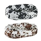Bowsers COW PRINT MicroVelvet Donut Bolstered Nesting Dog Bed — Pick Size/Color