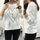 Women's Long Casual Sleeve Pullover Sweatershirt Sweater T-Shirt Pullover