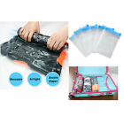 Reusable Roll Up Space Saving Travel Vacuum Seal Bag Zip Lock Holiday Luggage