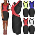 NEW LADIES CUT OUT SIDES CONTRAST TEXTURED DRESS BODYCON LOOK WOMENS MINI SKIRT