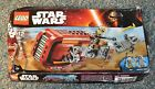 NEW CRUSHED BOX LEGO Star Wars REY's SPEEDER 75099 Unkar's Thug sand mask