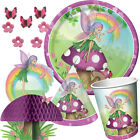 FANCY FAIRY Birthday Party Range - Girl Rainbow Tableware Balloons & Decorations