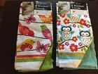 RITZ Set of 2 Colorful Kitchen Dish Towels *CHOOSE* Birds Cupcakes Owls NEW