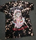 Yeezus God Wants You Bleached Design Black Shirt Alternative Metal Rock Tie Dye