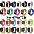 Silicone/Leather Loop/Milanese Magnetic Strap Band for Apple Watch iWatch Band