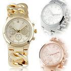 NEW Women Lady Stainless Steel Wild Dress Wrist Watch Bracelet Analog Relogio