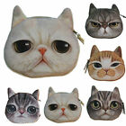 HOT Mini Cat Face Zipper Case Girls Coin Storage Purse Wallet Makeup Bag Pouch