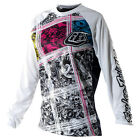 NEW TROY LEE DESIGNS TLD WOMENS GIRLS REV DIRT BIKE JERSEY WHITE SIZE X-SMALL XS