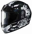 HJC CL-Y SN Flame Face Youth Snowmobile Helmet Black/Silver/White