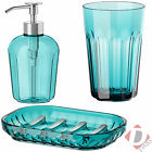IKEA Bathroom Accessories Turquoise Blue Soap Dispenser / Dish / Toothbrush Mug