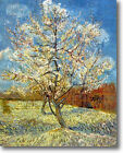 HUGE Van Gogh Peach Tree Blossom Stretched Canvas Giclee Repro Print ALL SIZES