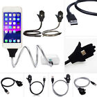 Flexible Stand up USB Charging Sync Data Cable Chargering Holder For iPhone Hot
