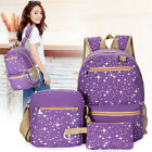 3Pcs Star School Bag Set School Backpack Crossbody Bags for Women Travel Bags US
