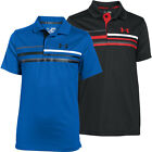 Under Armour 2016 Boys UA Straight Flight Stripe Polo Shirt Golf Stretch UV Tech