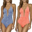 Sexy Women Bikini Mid Waist Swimsuit One Piece Hollow Out Swimwear Bathing N98B