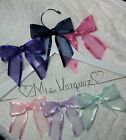 Wedding Dress Hanger Bride Name your choice of 12 bow colors White Hanger bridal