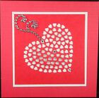Hand Made Greeting Card,  VALENTINE   LOVE - SQUARE 2