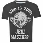 STAR WARS:WHO IS YOUR JEDI MASTER? T SHIRT,7/8,9/10,11/12,13YR NEW WITH TAGS