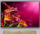 "Huge giclee canvas print. Abstract art 30""x40"" colorful flower photo painting"