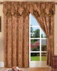 SET OF 2 PENELOPIE CURTAIN PANELS WITH Seconded AUSTRIAN VALANCE 84 inches long
