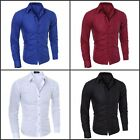 Luxury New Fashion Mens Slim Fit Shirt Long Sleeve Dress Shirts Casual Shirt Lot