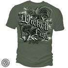 Erazor Bits Mens Graphic Apparel T-Shirt Wicked Fish Fluke Dark Green